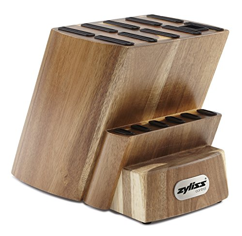 Zyliss Magnetischer Messerhalter für die Küche, Küchenbesteck, magnetisch 16-tlg, leerer Messerblock Knife Block schwarz