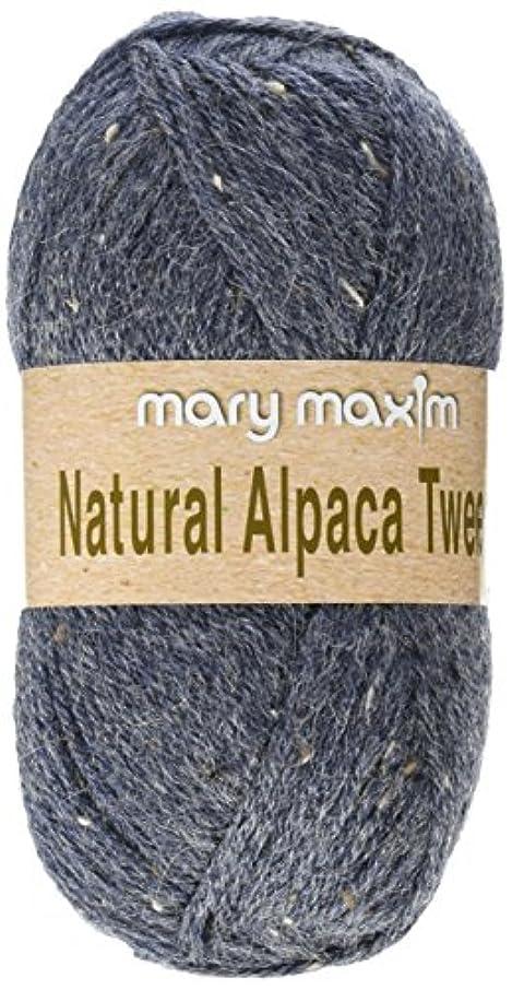 Mary Maxim Y083-302 Natural Alpaca Tweed Yarn (Blue Stone)