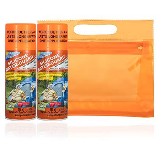 Sno Seal Atsko Silicone Water Guard Spray - Imprägnierspray Imprägniermittel Doppelpack 2X 350 ml - für Outdoorjacken, Schuhe, Rucksäcke, Zelte, Renner XXL Kulturbeutel