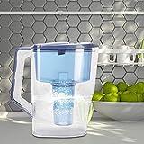 Changor Jarra de Agua alcalina, Jarra de Filtro de Agua -200MV portátil de hidratación A BS + PS Made