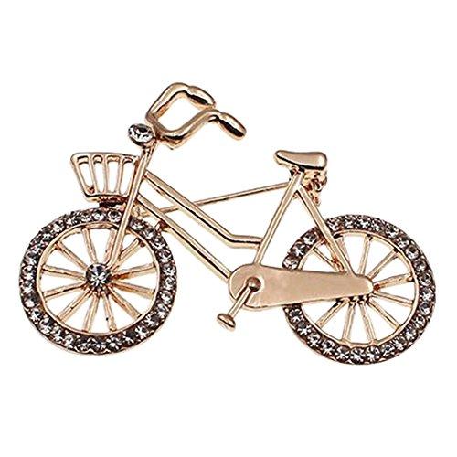 Meigold Kreative Brosche Fahrrad Form Diamant Brosche Kleidung passendes Geburtstagsgeschenk Silber