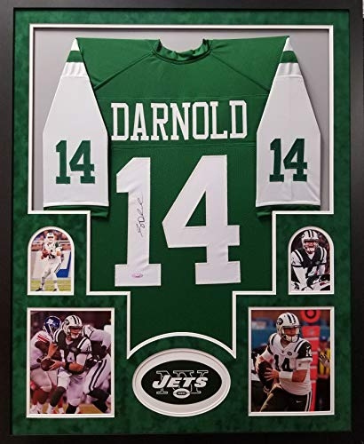 Sam Darnold New York Jets Autograph Signed Custom Framed Jersey SUEDE MATTED Tristar Authentic Certified