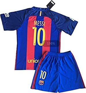 ChuLong New 2017 Messi #10 Barcelona Home Jersey & Shorts for Kids and Youths