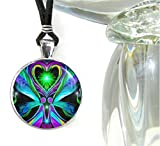 Chakra Jewelry, Twin Flames Angel, Statement Pendant, 'Unconditional Love'