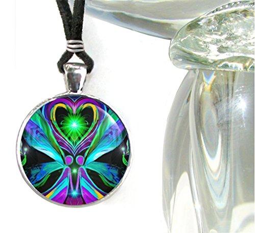 Chakra Jewelry, Twin Flames Angel, Statement Pendant, 'Unconditional Love'