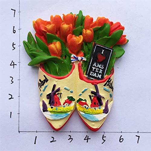 JSJJAYU Imanes de Nevera Pegatinas Imanes de Nevera Recuerdos turísticos magnético refrigerador Pegatinas de decoración para el hogar Regalos (Color : I Love Amsterdam)