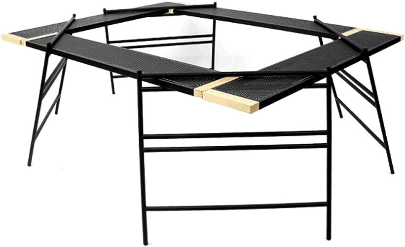 DWhui Table de Pliage Table de Barbecue de Camping en Plein air Portable, Multifonctions et à Conduite Autonome Portable Parfaite pour Barbecue, fête