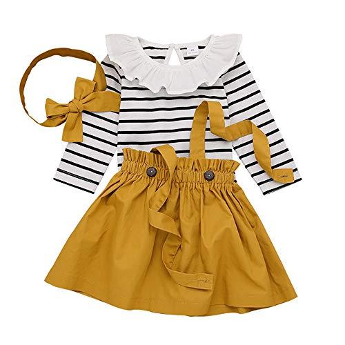 T TALENTBABY Ensemble de vêtements pour bébé Fille Noir...