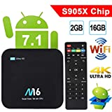 TV Box Android 7.1 - VIDEN Smart TV Box Amlogic S905X Quad Core, 2GB RAM & 16GB ROM, 4K*2K UHD H.265, HDMI, USB*2, 2.4GHz WiFi, Bluetooth 4.0, Web TV Box, Android Set-Top Box [Versión Mejorada]
