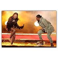 Suuyar ケンドリックラマーポスターとプリントヒップホップレコーディングアーティストラッパーミュージックウォールアートプリントキャンバスにリビングルーム用-24X32インチX1フレームレス