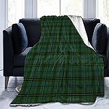 Henderson Tagesdecke, ultraweich, Micro-Fleece, strapazierfähig, Schottenkaro, für Bett, Bettwäsche, Sofa, Büro, Wohnzimmer, Heimdekoration, 127 x 152,4 cm