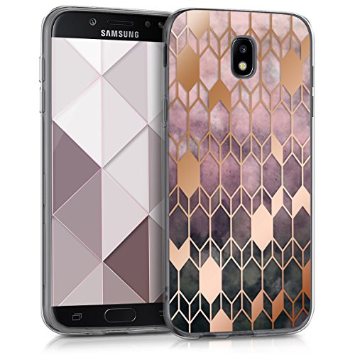 kwmobile Hülle kompatibel mit Samsung Galaxy J5 (2017) DUOS - Handyhülle - Handy Case Glory Pink Rosegold