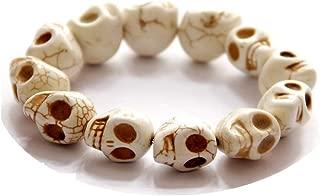 Skull Bead Bracelets Elastic Charm Skull Strand Bracelet Women Men