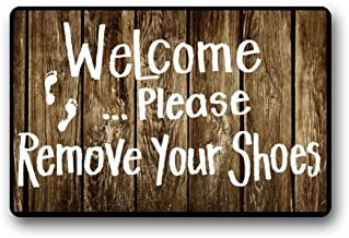 Funny Words Take Your Shoes Off Please Indoor/Outdoor Doormat Indoor/Outdoors x Decor Mat Rugs 23.6x15.7 Inch