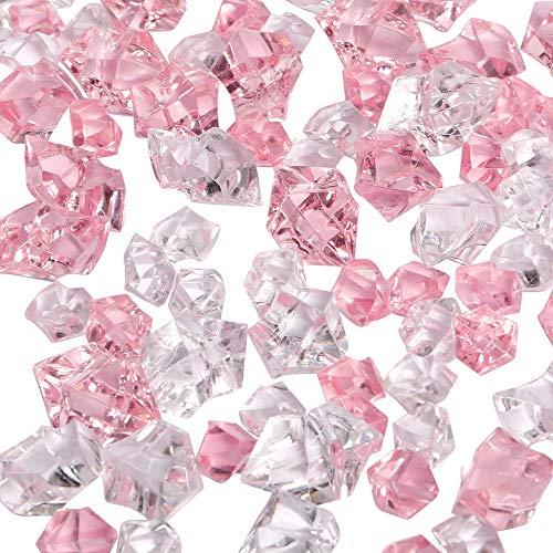 LUSSO LIA 150 pcs Fake Crushed Ice Rocks Fake Diamonds Acrylic Crystals...
