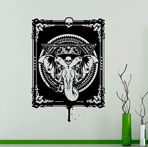 Pegatinas De Pared Dios Hindú Ganesha Pared Vinilo Calcomanía Elefante Indio Pegatinas De Pared Decoración Interior Del Dormitorio Decoración De La Habitación De La India Asiática 42X59Cm