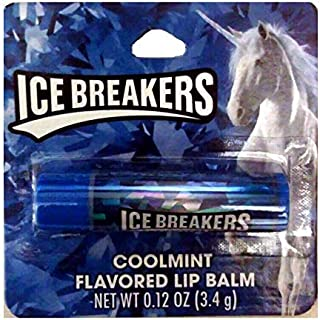 Taste Beauty (1) Stick Ice Breakers CoolMint Mint Candy Flavored Lip Balm Gluten Free - Blue Tube Carded with Unicorn - Ne...