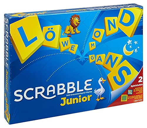 Mattel Games Y9670 - Scrabble Junior Wörterspiel und Kinderspiel, Kinderspiele Brettspiele geeignet für 2 - 4 Kinder ab 6 Jahren, Design kann variieren
