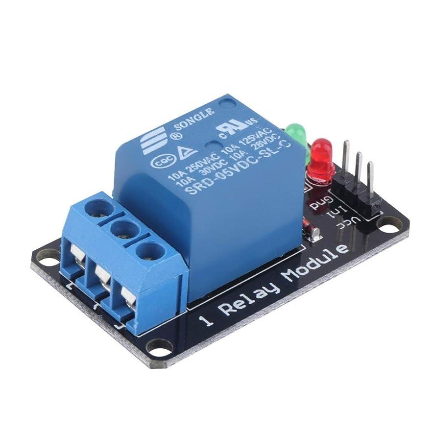 Swiftgood Arduino用の効果的な安定した高レベルリリースリレーモジュール耐久性のある1チャンネル5VインジケータライトLEDリレーモジュール