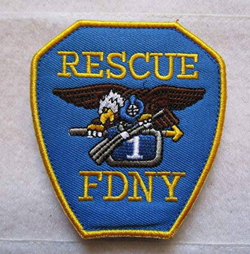New York City Fire Department FDNY Rescue 3D Tactical Patch Military Embroidered Morale Tags Badge Embroidered Patch DIY Applique Shoulder Patch Embroidery Gift Patch