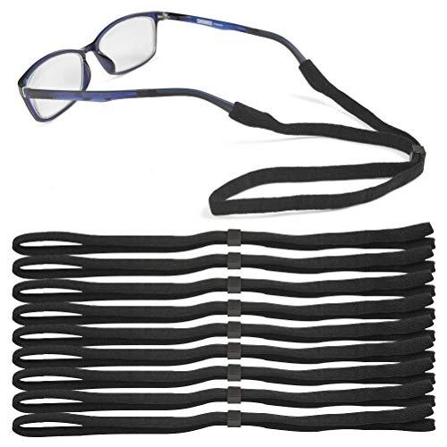 ATPWONZ 10er sportliches Brillenband, leicht, weich, elastisch, Hoher, Ideal für Intensiver Sport wie Fußball, Basketball, Badminton usw.