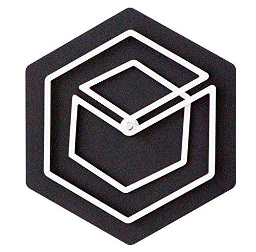 YYF Wanduhr Trompete Kreative Wanduhr Persönlichkeit Kunst Schlafzimmer Stumm Clock Kinder Cartoon Holz Hängenden Tisch