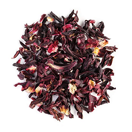 Hibiskus Blüten Biologischer Kräuter Tee – Zitronenfrische und Beerenfülle – klassischer süß-saurer Roseneibisch Hibiskusblüten Kräutertee - Hibiskusblütentee - Hibiskustee 200g