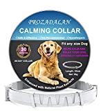 PROZADALAN Calming Collars for Dogs, Dog Anxiety Relief & Anti Stress, 30 Days Long Lasting Calming Effect 100% No Allergy 100% Waterproof & Adjustable Natural Calm Dog Collars