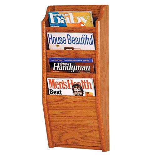 Wooden Mallet Holzhammer Viertaschen-Cascade Magazin Rack Traditionell Eiche medium