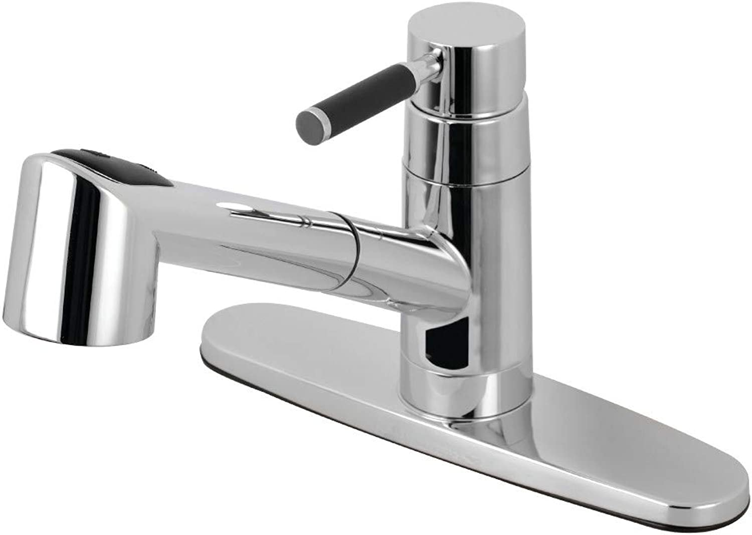 Kingston Brass GSC8571DKL Kaiser Single-Handle Pull-Out Kitchen Faucet Polished Chrome