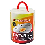 Value Disc DVD-R 16X 4.7GB 100PK Spindle with Handle