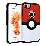 "iPhone 6S Case, DURARMOR Iphone 6 4.7"" [Lifetime Warranty] Poke Ball Style Pokemon Go Dual Layer Hybrid Bumper ShockProof Ultra Slim Fit Armor Air Cushion Defender Protector Cover for 4.7"" iPhone 6s"