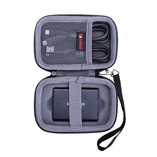 XANAD Hart Reise Tragen Tasche für Samsung Portable SSD T3 or T5 250 GB 500 GB 1 TB 2 TB Externe Solid State-Laufwerke - Schutz Hülle
