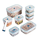Zevro KCH-06093 Vac 'n Save Ruby Rectangular-Shaped Vacuum-Sealing Food-Storage Containers, Set of 8