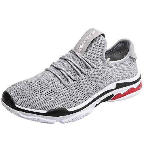 XJWDNX - Zapatillas de running unisex de malla, para actividades al aire libre, deportivas, deportivas, transpirables, con cordones