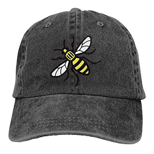 QUEMIN Manchester Bee Gorras de béisbol Ajustables Unisex Sombreros de Mezclilla Deporte de Vaquero al Aire Libre