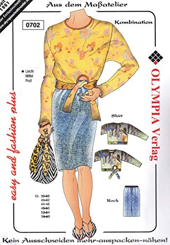 Olympia Creativ-Schnittmuster Shirt und Rock Größe 44-46 (0702)