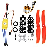 abcGoodefg 2200KV RC Brushless Motor 2212-6+ with 30A ESC Set + Free Mount Accessories Kit Mount for RC Plane Quadcopter Helicopter Aircraft (2200Kv Set)