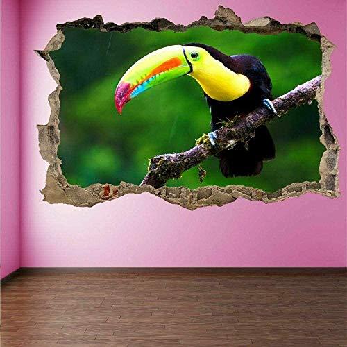 MXLYR Wandtattoo Toucan Bird 3D Wall Art Sticker Mural Decal Poster Children S Room Home Decoration
