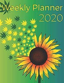 Weekly Planner 2020: Scheduler Calendar January till December 2020 - Sunflower Notebook