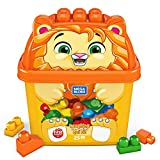 Mega Bloks First Builders boîte opaque en forme de lion, jeu de gros blocs de construction, 25 pièces, jouet pour bébé et enfant de 1 à 5 ans, GPG20