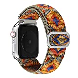 Watchband Bracelet De Montre en Nylon pour Bracelet De Montre Apple 44Mm 40Mm 38Mm 42Mm Bracelet...