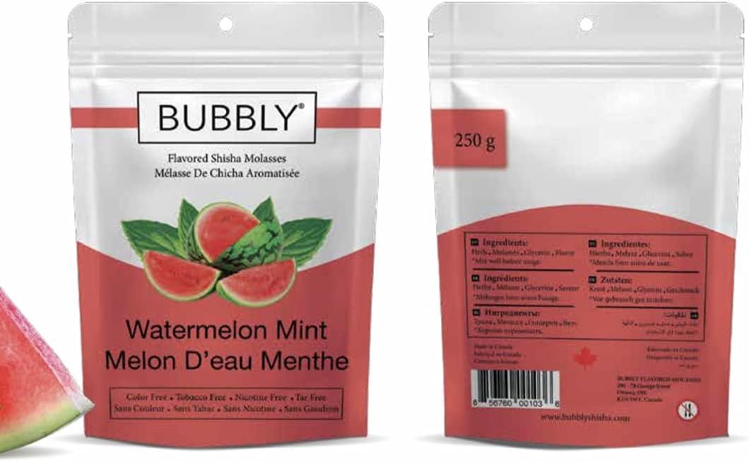 Bubbly Flavored Max 45% OFF Herbal Shisha Molasses Grams New arrival 250 Hookah Waterme