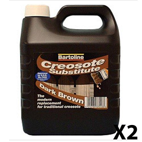 Tratamiento Creocote a base de aceite para la madera, sucedáneo de creosota, marrón oscuro, 4 L, para tratamiento de vallas