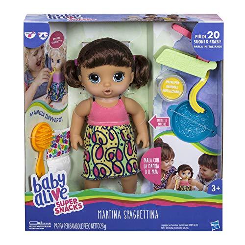 Hasbro Baby Alive - Martina espaguetita muñeca, Multicolor, C0964103.
