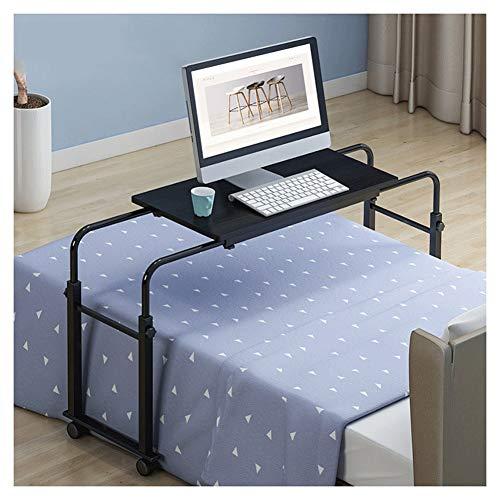 LQIAN Bett Rolltisch Pflegetisch Multifunktion Laptoptisch Beistelltisch Mit Rollen, Höhenverstellbar 55-80cm (Color : Black, Size : 80x40x90cm)