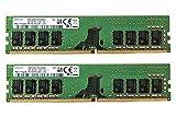 Samsung 16GB (2x8GB) DDR4 2666MHz DIMM PC4-21300 UDIMM Non-ECC 1Rx8 1.2V CL19 288-Pin Desktop Computer RAM Memory Upgrade Kit M378A1K43CB2-CTD