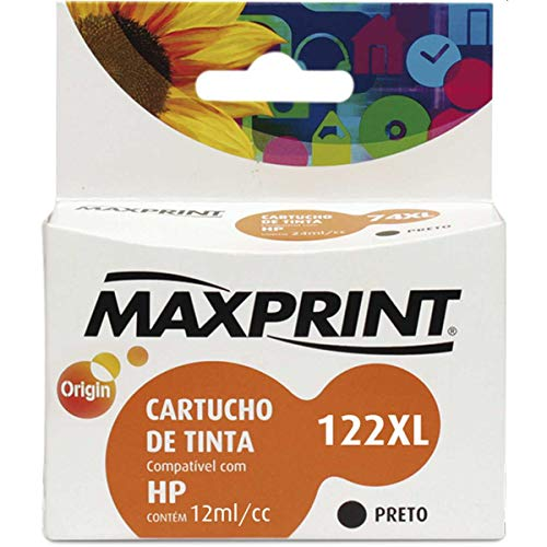 Cartucho de tinta Maxprint Compatível HP CH563AL No.122XL Preto