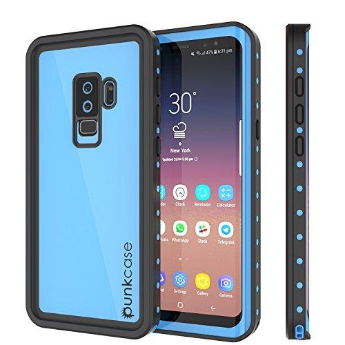 Galaxy S9 Plus Waterproof Case, Punkcase [StudStar Series] [Slim Fit] [IP68 Certified] [Shockproof] [Dirtproof] [Snowproof] Armor Cover for Samsung Galaxy S9+ [Light Blue]