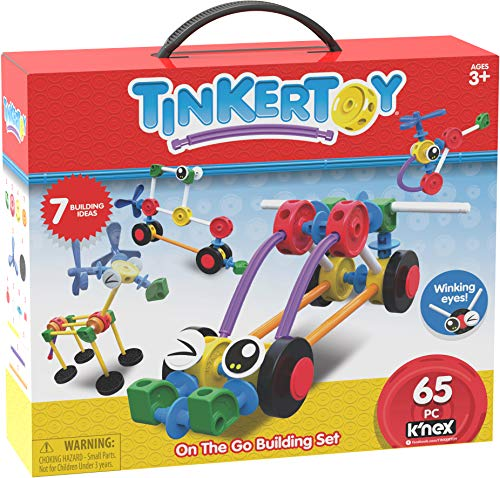 Tinkertoy On The Go Building Set - 65 Parts - Ages 3 & Up -...